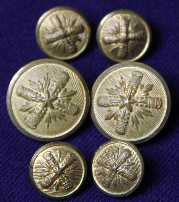 Men's Vintage Palm Beach Blazer Buttons Set Brass Shank