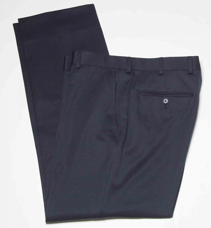 Men's Brooks Brothers Dress Pants Flat Front Black Size 35 X 30