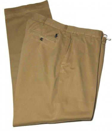 Men's Ralph Lauren Polo Prospect Chinos Pants Flat Front Khaki Size 38 X 32