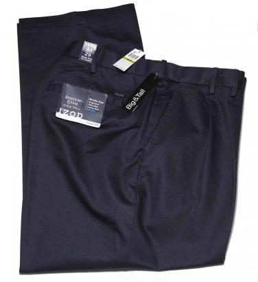 Men's Izod Wrinkle Free Chinos Pants Navy Size 44 X 29 Big Tall