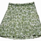 Women's Ann Taylor Floral Skirt Green White Size 10