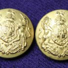 Two Men's Vintage Stanley Blacker Blazer Buttons Gold Brass 1980s