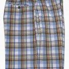 Mens Jos. A. Bank Plaid Shorts Flat Front Size 42