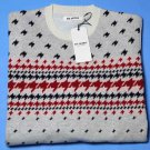 Mens Ben Sherman Fair Isle Knit Sweater Size Slim XXL