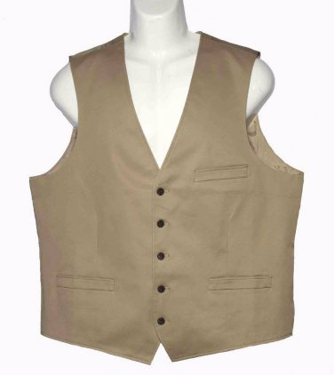 Mens Inc International Concepts Vest or Waist Coat Tan Size Slim XL
