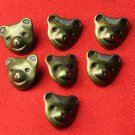 7 Womens Brass Teddy Bear Sweater or Shirt Buttons