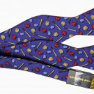 Mens Countess Mara Silk Bow Tie Baseball Pattern One Size