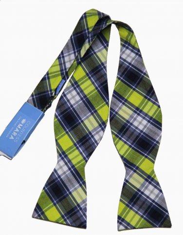 Mens Countess Mara Madras Bow Tie Plaid Cotton One Size