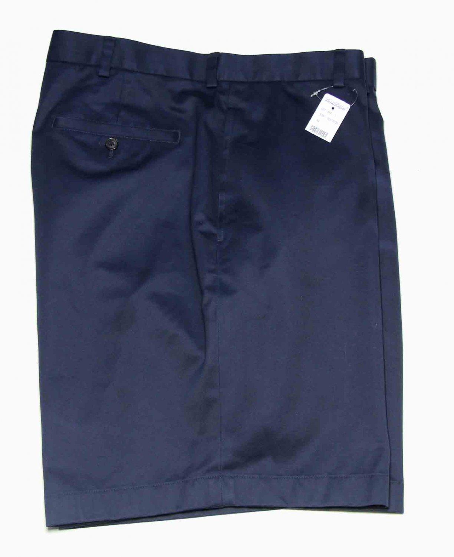 Mens Brooks Brothers Advantage Chino Shorts Navy Blue Size 40
