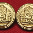 Two Mens Vintage Aldgate Blazer Buttons Gold Brass 1980s
