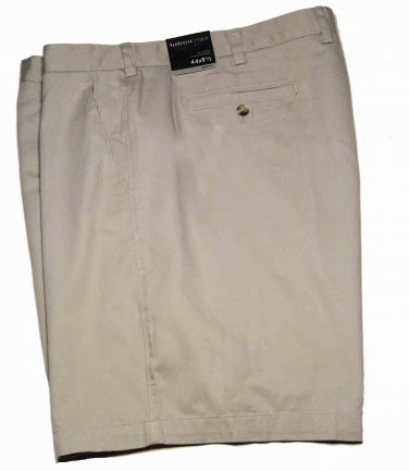Men's Van Heusen Chino Shorts Khaki Flat Front Size 44
