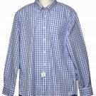 Mens Tommy Hilfiger Plaid Cotton Shirt Blue White Size Large