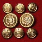 Mens St. Germain Blazer Buttons Set Gold Brass