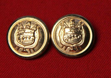 Two Mens St. Germain Blazer Buttons Gold Brass
