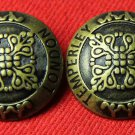 Two Mens Temperley London Blazer or Jacket Buttons Antique Gold Shank Metal