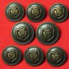 Mens Vintage Mark Shale Blazer Buttons Set 1970s Brown Metal
