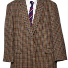 Mens Burberry London Blazer Wool Country Check Size 47 R