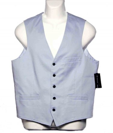 Men's Inc. International Concepts Light Blue Vest Blue Size Slim Fit Medium