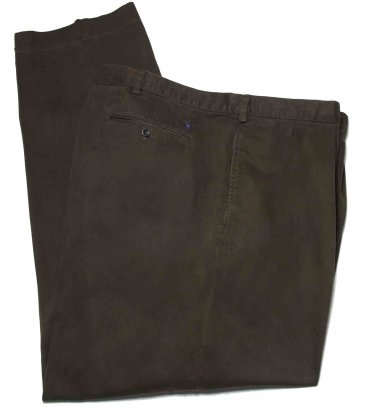 Mens Ralph Lauren Polo Andrew Chinos Pants Brown Pleated Size 50 X 32