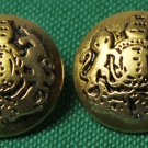 wo Vintage 1970s Mens Lord Kingston Blazer Buttons Gold Metal