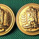 Two Mens Kingsley Blazer Buttons Gold Metal Shank