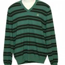 Mens Brooks Brothers Sweater Striped Cotton & Cashmere Size Slim Large