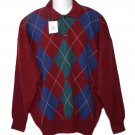 Mens Highlands Scottish Lambs Wool Sweater Argyle Size 2XL Euro 56
