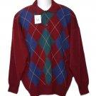 Mens Highlands Scottish Lambs Wool Sweater Argyle Size 2XL Euro 56