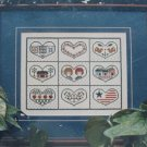 Country Hearts Cross Stitch Ann Taylor Nelson Designs