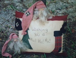 Nick Santa Stitchery & Applique Pillow Pattern You Are Special