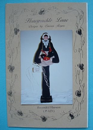 "Bountiful Harvest 31"" Tall Wood Painted Pilgrim Girl"