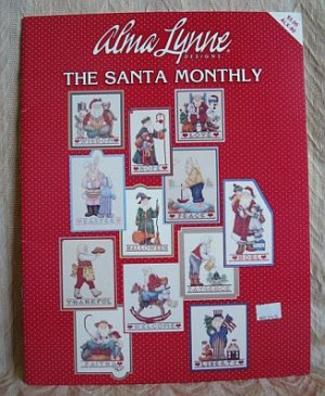 The Santa Monthly Cross Stitch Pattern Book Alma Lynne