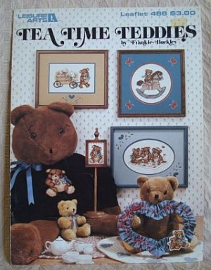 Tea Time Teddies Cross Stitch Bear Patterns Leaflet