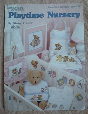 Playtime Nursery Cross Stitch Pattern Teddy Bear Booklet