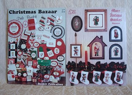 More Antique Santas and Christmas Bazaar Cross Stitch Pattern Booklets