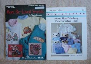 More Be-Loved Sweats & Sweat Shirt Stitchery Cross Stitch Pattern Booklets