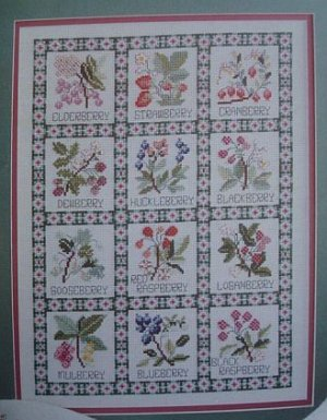 Just Berries Cross Stitch Pattern Leaflet #2189