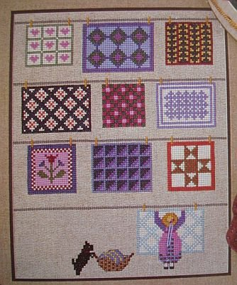 Quilts On The Line Cross Stitch Pattern Leaflet