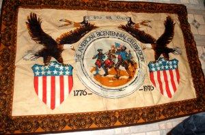 FOLK ART: AMERICAN BICENTENNIAL CELEBRATION TEXTILE WALL HANGING