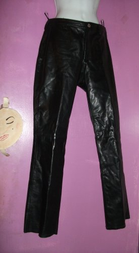 BANANA REPUBLIC BLACK LEATHER STRAIGHT LEG JEANS Sz 2