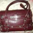 LUELLA  BARTLEY BROWN GISELE LARGE SATCHEL STYLED HANDBAG