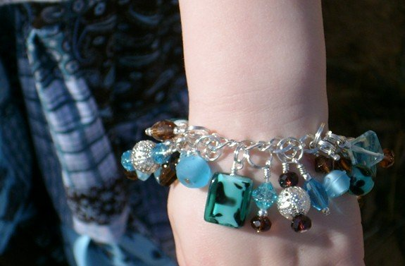 CHOICE of Custom Boutique Crystal and Glass Fringe bracelets