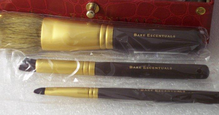 Bare Escentuals Set of 3 Brushes Face Heavenly EyeLiner + Bonus Bag