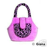 New Webkinz Leopard Pink Purse Pet Carrier Sealed Code