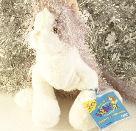 Webkinz Retired Gray & White Cat Sealed/Unused Code Tag New HM015