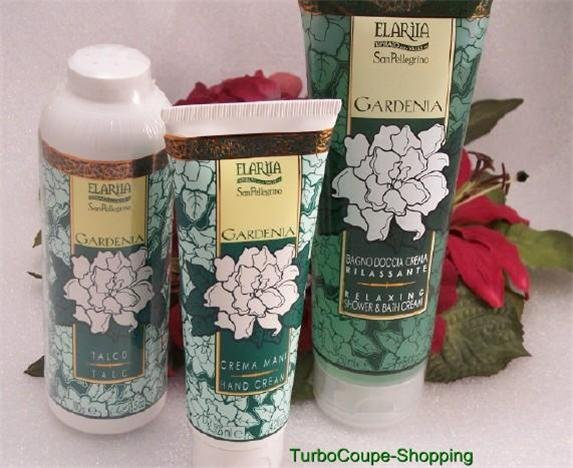 IBB Elariia Gardenia 3 Shower Gel ~ Hand Cream & Talc New Sealed