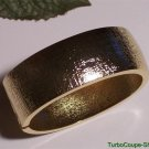 Hot in Hollywood ~ Bold Textured Clamper Bangle Bracelet New Goldtone