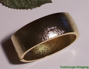 Hot in Hollywood ~ Bold Textured Clamper Bangle Bracelet New Goldtone