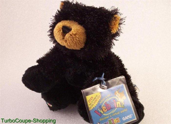 New Webkinz Lil'Kinz Black Bear Sealed Unused Code Tag HTF Ganz