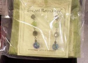 New Sweet Romance Candy Millefiori Glass Bead Earrings Vintage Style